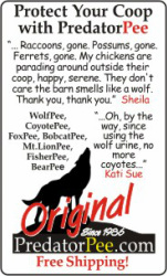 Wolf Urine for Chicken Coops